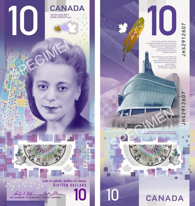 viola-desmond-10-bill-currency-money